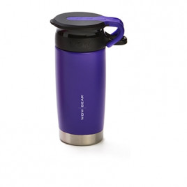 WOW Sports bottle purple 400ml Stainless steel