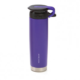 WOW Sports bottle PURPLE 650ml stainless steel