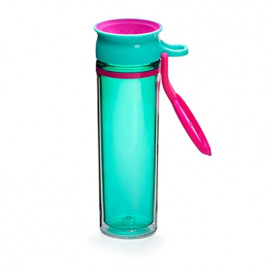 WOW Sports bottle TURQUOISE/PINK600ml