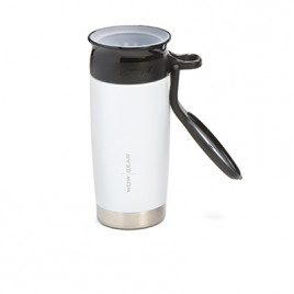 WOW Sports bottle white 400ml Stainless steel